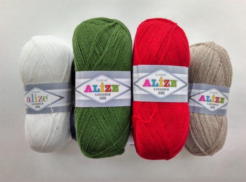 Ализе Ланаголд 800, alize, пряжа для вязания, шерсть, турецкая пряжа