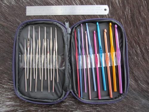 Набор крючков для вязания в чехле, пряжа для вязания интернет магазин в беларуси, пряжа бай, пряжа купить минск