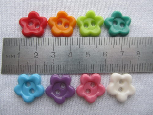 набор пуговиц цветочки, набор декоративных пуговиц