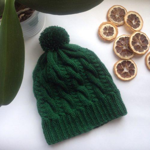 вязаная шапка, шапка из кашемира, вязаные вещи