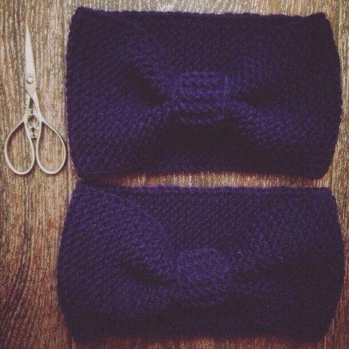 вязаная повязка, повязка на голову, вязаные вещи, ручная работа
