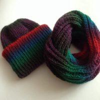 вязаный комплект, вязаная шапка, вязаный шарф, снуд, вязаные вещи