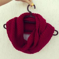 вязаный шарф, вязаный снуд, детский шарф, купить в минске